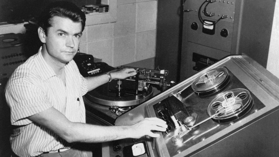 Sam Phillips im Studio 1952