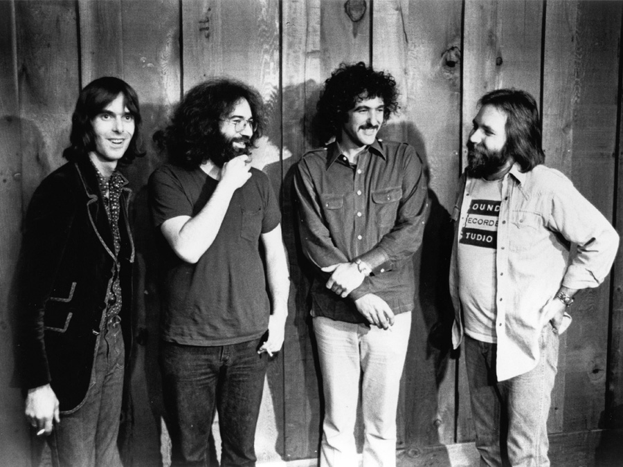 Jerry Garcia Band: Nicky Hopkins, Jerry Garcia, John Kahn und Ron Tutt