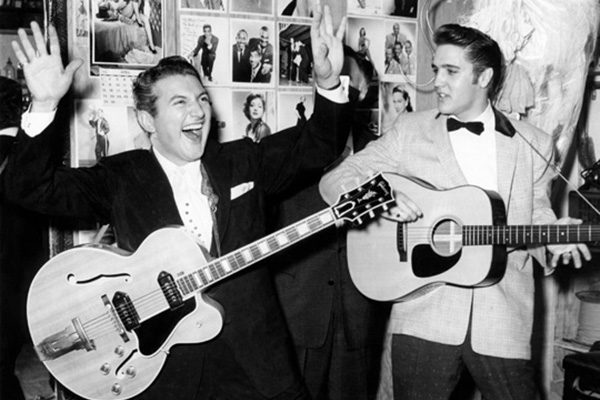 Liberace und Elvis im New Frontier Hotel am 23. April 1956